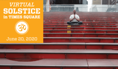 Solstice in Times Square-Free Yoga