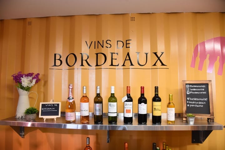 Bordeaux Wines Pop Up Bar in Times Square