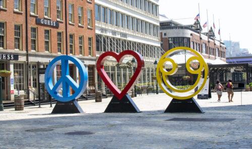 Peace, Love & Happiness Art Illustration