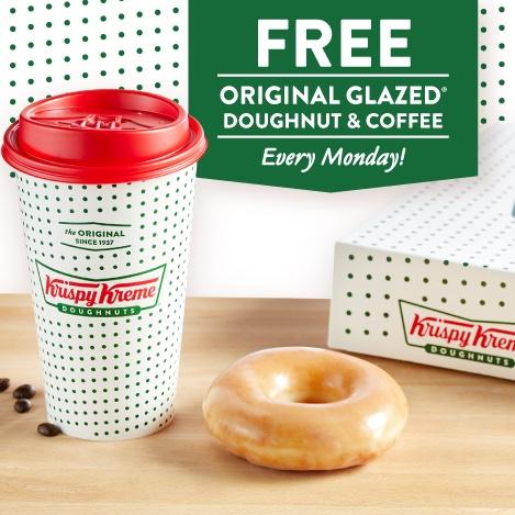 Free Coffee and Doughnut- Krispy Kreme