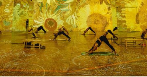 Gogh with Lifeway Kefir Immersive Yoga NYC